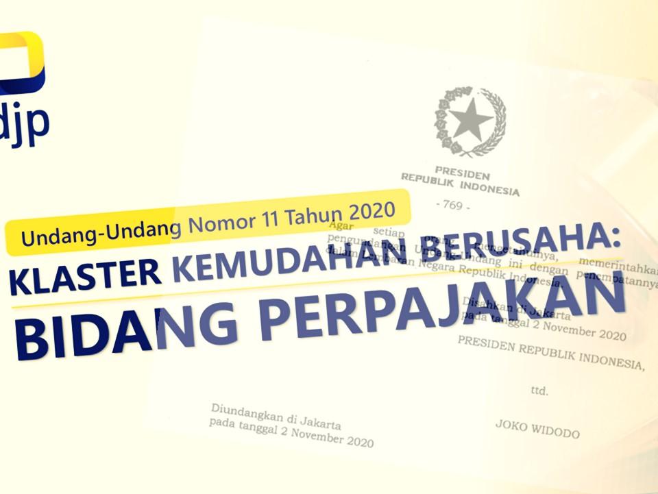 Perubahan Peraturan Pajak dalam UU Cipta Kerja